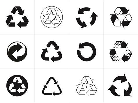 recycling symbol vectors for download signs symbols