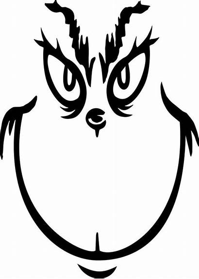 Grinch Printable Face Template Svg Christmas