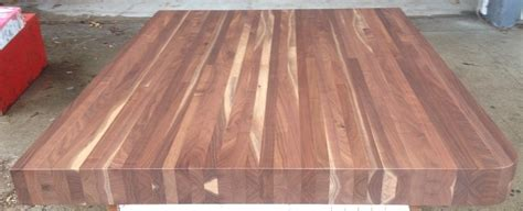Black Walnut Butcher Block Finished With Clear Lacquer