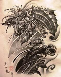 Koi Tattoo Vorlagen : pin von florian korlath auf drachen koi japanische tattoos graues tattoo und tattoo ideen ~ Frokenaadalensverden.com Haus und Dekorationen