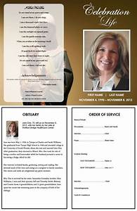 73 best printable funeral program templates images on With death program templates