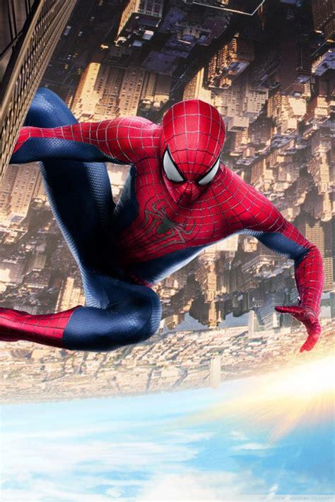spiderman climbing building ultra hd desktop background