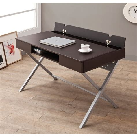 Coaster Desk With Built In Outlet In Cappuccino 800117