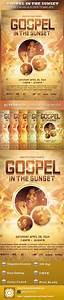 free church revival flyer template - print templates gospel in the sunset church flyer