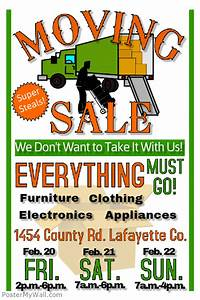 Moving Sale PosterMyWall