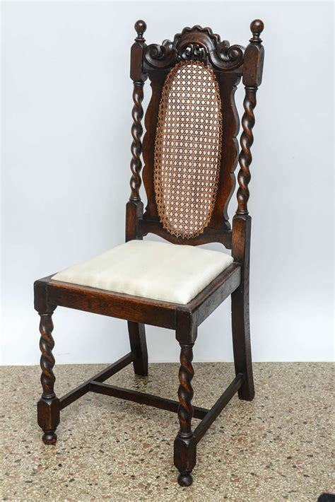 set of four barley twist side chairs 19th century