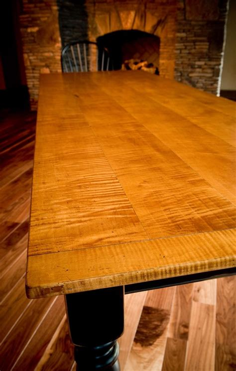 custom  tiger maple dining table  carolina farm table custommadecom