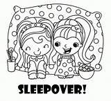Coloring Sleepover Spa Pajamas Malvorlagen Pajama Ausmalbilder Konabeun Pigiama Activity sketch template