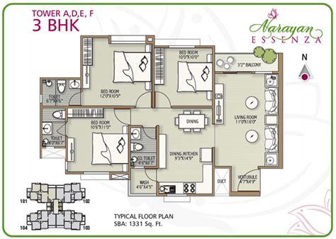 narayan essenza house plan  bhk apartments  vadodara