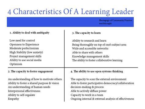 characteristics  learning leaders