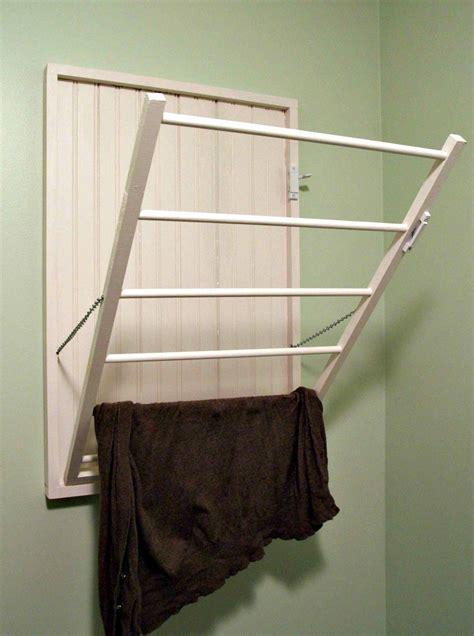 wall drying rack diy drying rack