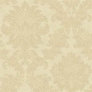Cream on Cream Textured Damask Wallpaper