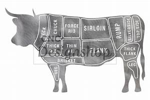 Beef Butcher Chart Dxf File For Cnc