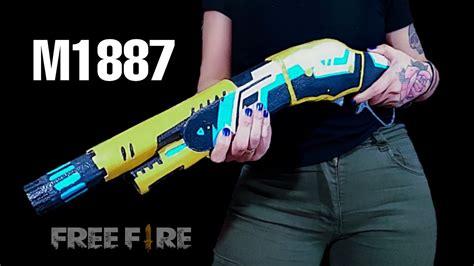 """Procurando cartoon de free fire? DIY- Cómo Hacer una """"M1887"""" de Cartón / Skin Loro tropical ..."""