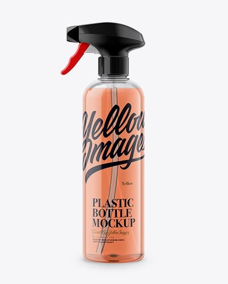 You can customize this to mockup your any other product, comes with movable objects, editable backgrounds, color variations, cap variations etc… the layers in psd file are segregated and colorized. Transparent Plastic Spray Bottle with Liquid Packaging Mockups