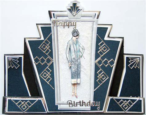 art deco card template papercrafts