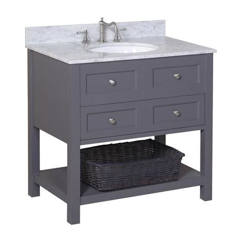 New Yorker 36 inch Vanity (Carrara/Charcoal Gray