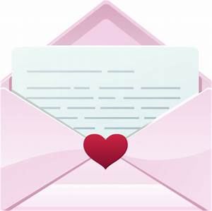 Love Letter in A Pink Envelope - Free Clip Arts Online ...