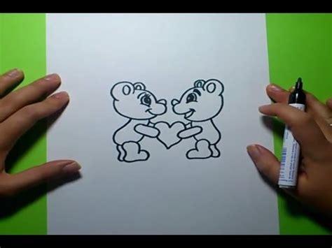 como dibujar osos de peluche paso  paso   draw