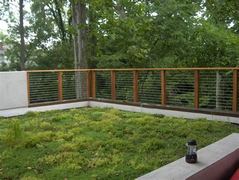 modern garden fencing ideas wood and metal fence ideas deck industrial with corrugated metal fence