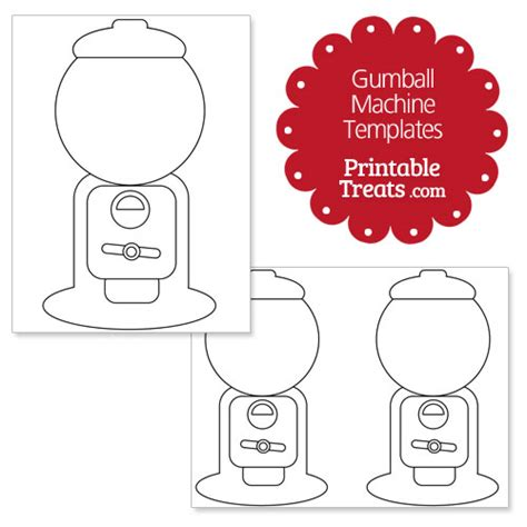 gumball machine template printable gumball machine template printable treats