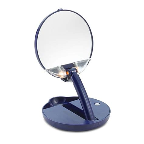 magnifying mirror 15x lighted floxite 15x mirror mate lighted adjustable compact and