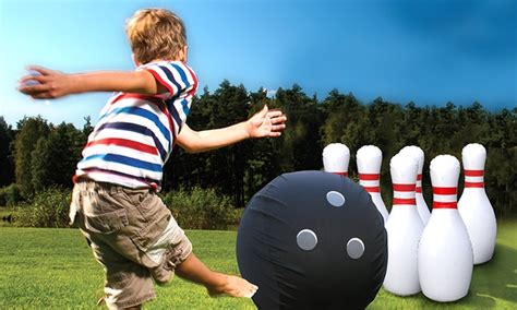 giant inflatable bowling set groupon