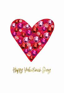 Bling Heart Happy Valentine's Day Card - Greeting Cards ...  Valentines
