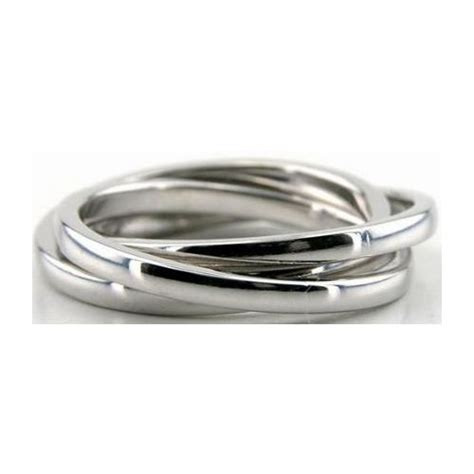 14k white gold 5 5mm handmade wedding band rolling ring design 012