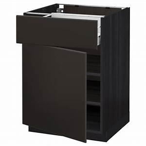 Ikea Metod Unterschrank : metod f rvara unterschrank mit schublade t r schwarz ~ Watch28wear.com Haus und Dekorationen