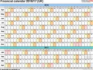Fiscal Year Calendar 2016 2017 Printable