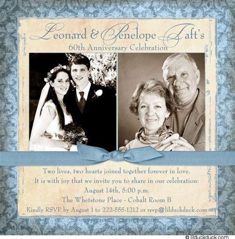 anniversary invitation  fashioned love couple