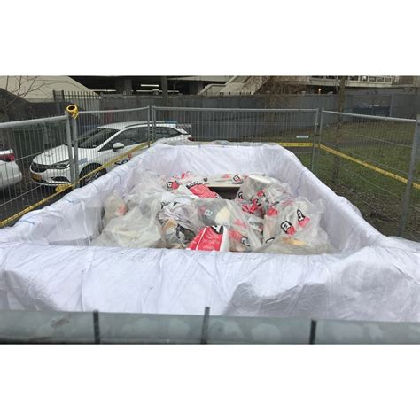 asbestos skip container bags   liner