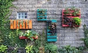 Wanddeko Für Garten : originelle dekoration aus holzpalleten ~ Watch28wear.com Haus und Dekorationen