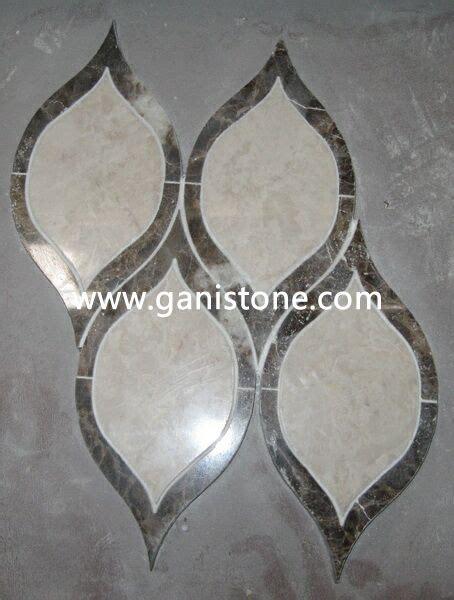 waterjet cut marble mosaic tiles 014