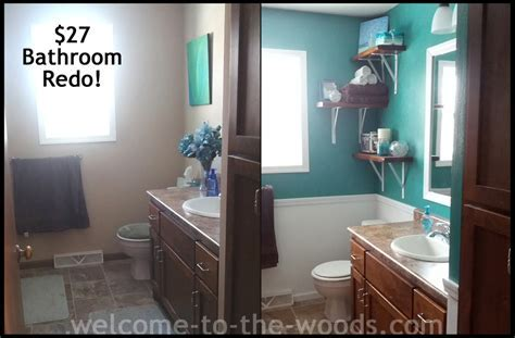 Bathroom Redo Project Reveal   Welcome to the Woods