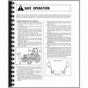 Kubota L3350 Tractor Operators Manual