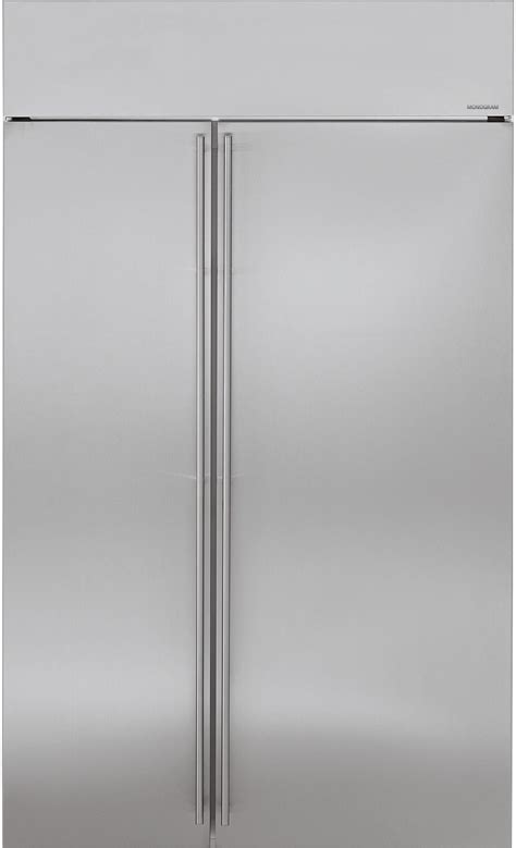 monogram zissnkss   built  side  side refrigerator   adjustable glass shelves