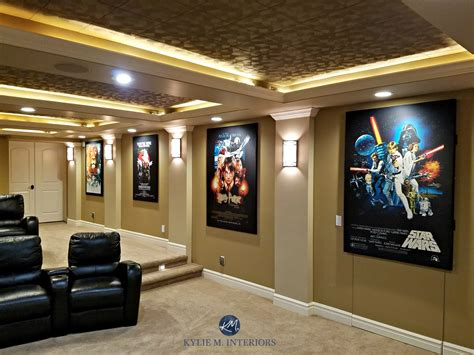 home theatre room  textured acoustic tile ceiling