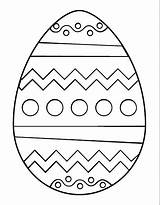 Coloring Easter Egg Template Pages Printable sketch template