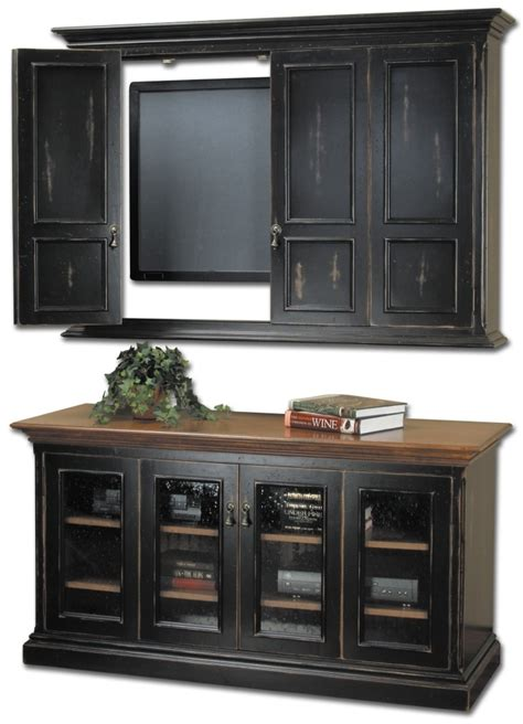 collection  enclosed tv cabinets  doors tv