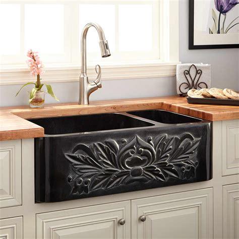 """33"""" Ivy 7030 Offset Doublebowl Polished Granite"""
