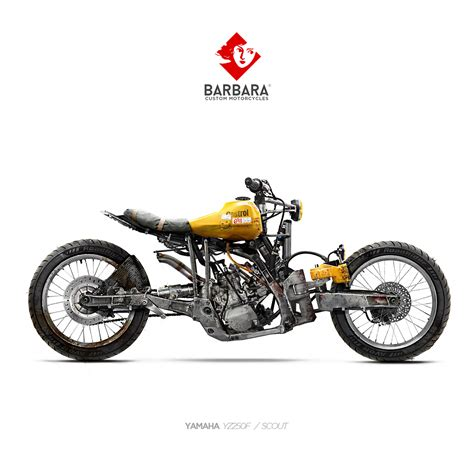 yamaha yz250f scout concept by barbara custom motorcycles vehicles motorcycle concept