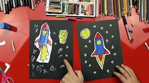 how to draw a rocket artists