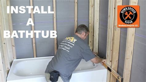 install  leak  bathtub   day home repair tutor