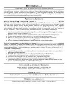 assistant bookkeeper sle resume free assistant bookkeeper resume exle
