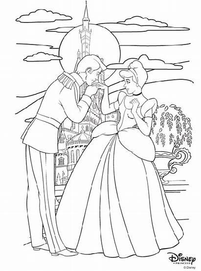 Coloring Princess Prince Cinderella Disney Pages Charming
