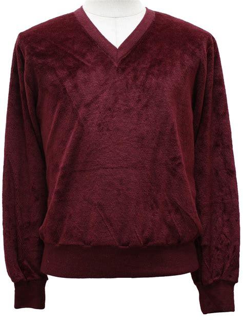 vintage sweater emporium velour shirt  sweater