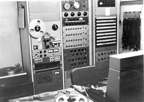 Recording Equipment In The Control Room Of Studio A