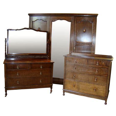 vintage style furniture jacobean style oak bedroom suite c 1930 s antiques atlas 6869